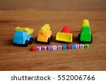 miniature model of construction ... | Shutterstock . vector #552006766