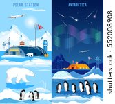 north pole  polar station... | Shutterstock .eps vector #552008908