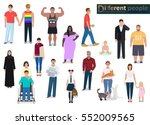 different people in society ...   Shutterstock .eps vector #552009565