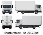 delivery   cargo truck isolated ... | Shutterstock . vector #552012805