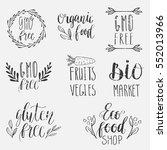 eco  nature  vegan  bio food...   Shutterstock .eps vector #552013966