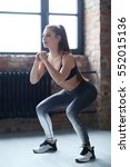 workout  sport. woman in the gym   Shutterstock . vector #552015136