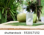 coconut juice drink coconut... | Shutterstock . vector #552017152
