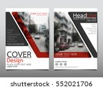 red flyer cover business... | Shutterstock .eps vector #552021706