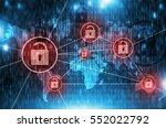 unsafe global network concept...   Shutterstock . vector #552022792