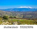 view of the hula valley and... | Shutterstock . vector #552025096
