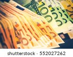 pile of euro banknotes.... | Shutterstock . vector #552027262