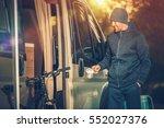 satisfied smiling men with... | Shutterstock . vector #552027376
