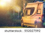 motorhome rv camping spot.... | Shutterstock . vector #552027592