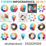 Stock vector vector circle arrows infographics cycle diagram graph presentation chart business startup 552029305