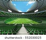 3d render of a round football... | Shutterstock . vector #552030025