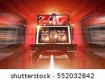 Lucky Slot Machine Winner Concept 3D Render Illustration. Lucky Casino Slot Machine - stock photo