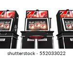 isolated slot machines 3d... | Shutterstock . vector #552033022