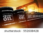 Crude Oil Trading Concept With...