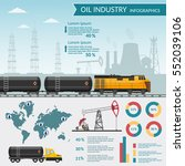 vector oil rig industry... | Shutterstock .eps vector #552039106
