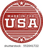 vintage made in the usa rubber... | Shutterstock .eps vector #552041722