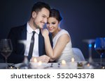 young couple enjoying romantic...   Shutterstock . vector #552043378