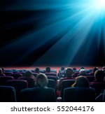 viewers watch shining star at... | Shutterstock . vector #552044176