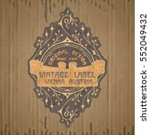 vector vintage items  label art ... | Shutterstock .eps vector #552049432