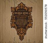 vector vintage items  label art ... | Shutterstock .eps vector #552050578