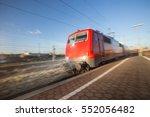 speeding train | Shutterstock . vector #552056482