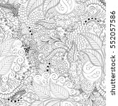 tracery seamless calming... | Shutterstock .eps vector #552057586