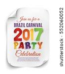 brazil carnival 2017 party... | Shutterstock .eps vector #552060052