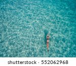 Aerial View Of Young Woman In...