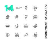 fast food cafe menu   set of... | Shutterstock .eps vector #552066772