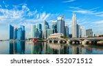 singapore business district... | Shutterstock . vector #552071512