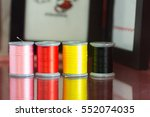 reel several colors on the... | Shutterstock . vector #552074035