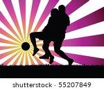 soccer player vector | Shutterstock .eps vector #55207849