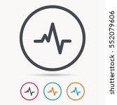heartbeat icon. cardiology... | Shutterstock .eps vector #552079606