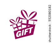 vector logo box with gifts | Shutterstock .eps vector #552080182