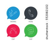 colored speech bubbles. smoking ... | Shutterstock .eps vector #552082102