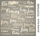 friday background | Shutterstock . vector #552093688