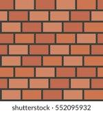 vector brick wall tile seamless ... | Shutterstock .eps vector #552095932