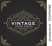 vintage line frame design for... | Shutterstock .eps vector #552096988