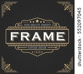 vintage line frame design for... | Shutterstock .eps vector #552097045
