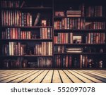 Blurred Image Many Old Books O...