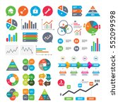 business charts. growth graph.... | Shutterstock .eps vector #552099598