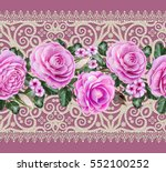lace background. abstract... | Shutterstock . vector #552100252