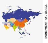 asia map  illustration vector | Shutterstock .eps vector #552100366