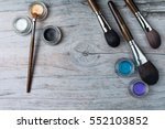 collection of make up products  ... | Shutterstock . vector #552103852