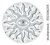 all seeing eye illuminati new... | Shutterstock .eps vector #552106255