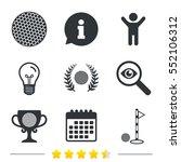 golf ball icons. laurel wreath... | Shutterstock .eps vector #552106312