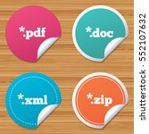 round stickers or website... | Shutterstock .eps vector #552107632
