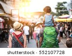 family  vacation  tourism... | Shutterstock . vector #552107728
