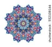 flower mandalas. vintage... | Shutterstock .eps vector #552108166