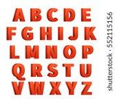 red 3d letters vector alphabet  ... | Shutterstock .eps vector #552115156